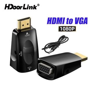 HdoorLink Cáp Chuyển Đổi Hdmi-Compatible Sang Vga 3.5mm Cho Pc Laptop Tv Box thumbnail