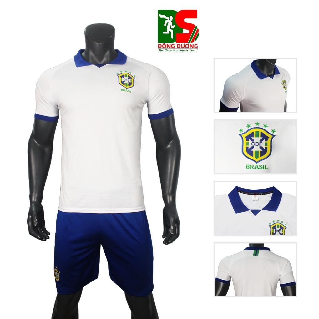 Áo đá bóng đội tuyển brazil trắng 2019-2020