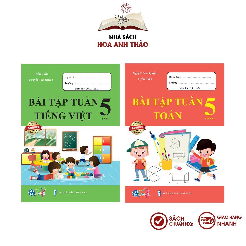 Sách - Bài tập tuần Toán và Tiếng Việt lớp 5 học kỳ 2 Bộ 2 quyển - Combo 2 quyển