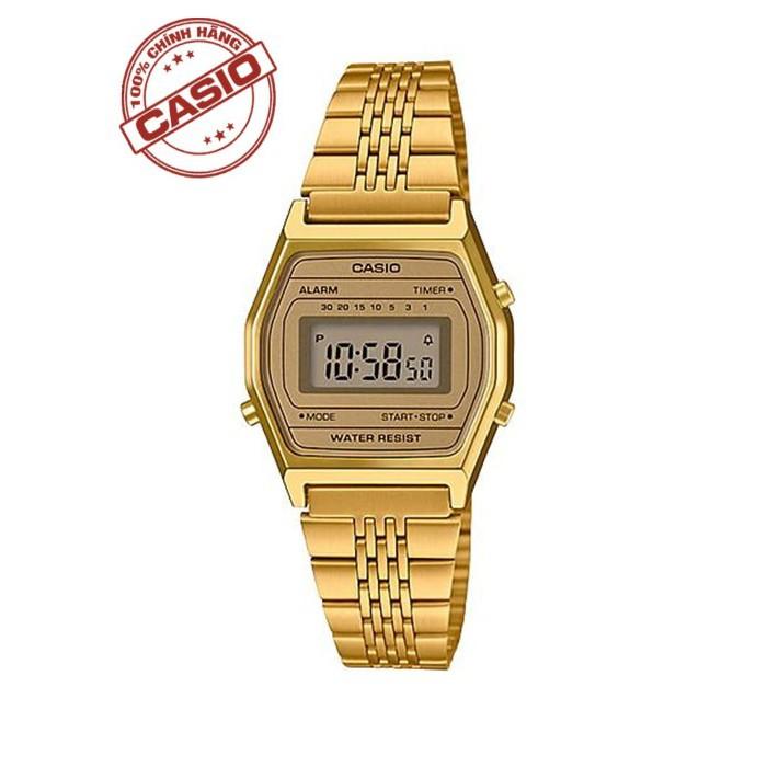 Đồng hồ nữ điện tử Casio Anh Khuê LA690WGA-9DF dây thép - Chính Hãng