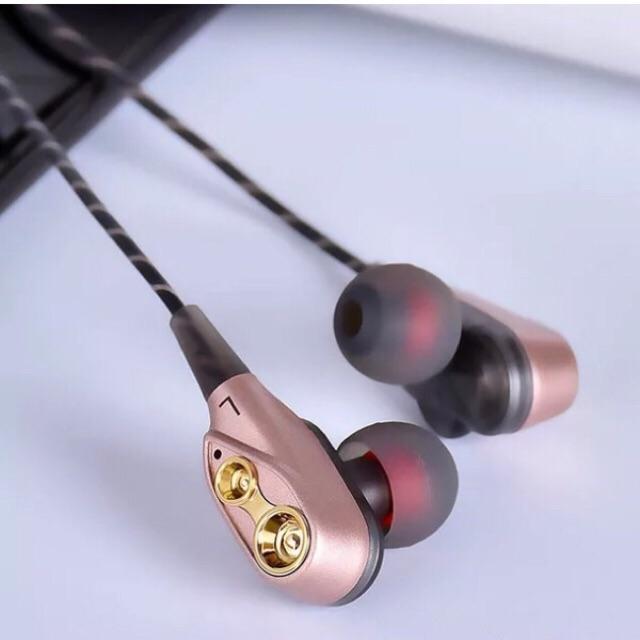 Tai nghe dây kép âm thanh 4D Tai nghe Bluetooth
