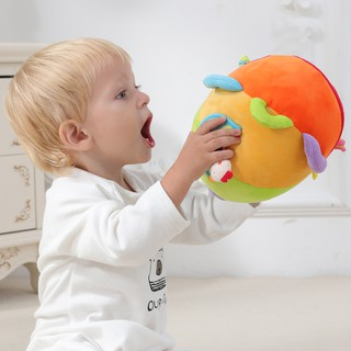 Plush Puzzle Toy Hand Held Ball Hanging Carriage Decoration For Babies