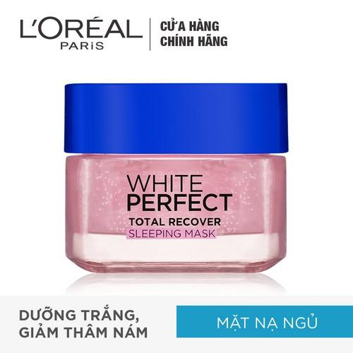 Mặt nạ ngủ dưỡng da trắng mượt đều màu L'Oreal Paris White Perfect 50ml