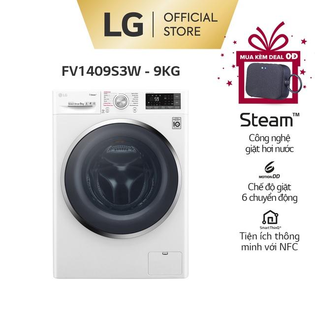 Máy Giặt LG Inverter 9Kg FV1409S3W – Miễn Phí lắp đặt