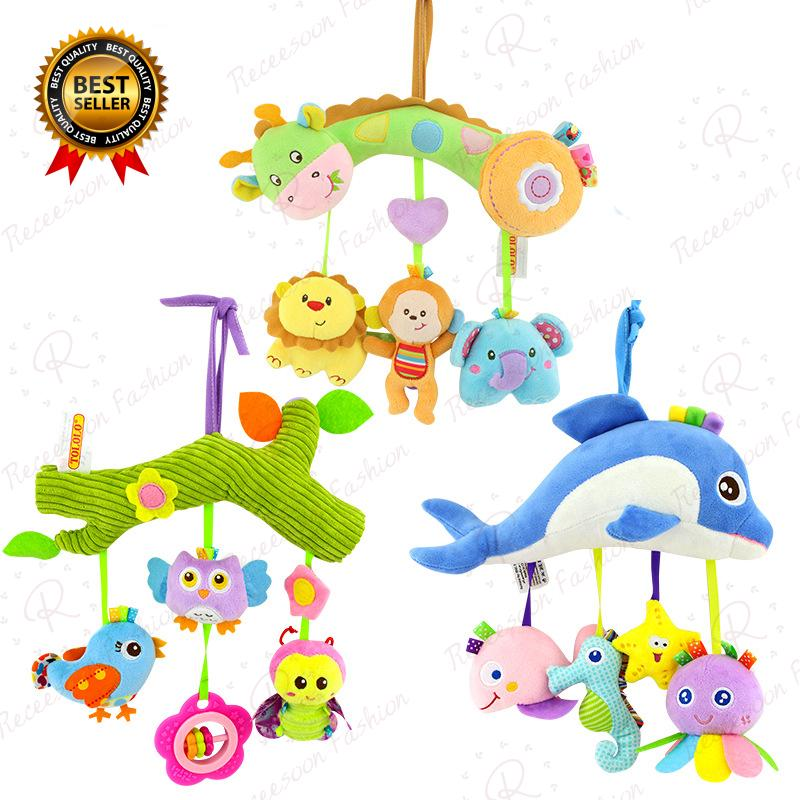 Infant Crib Bed Stroller Toy Baby Toys For Newborns Car Seat Rattle Hanging Toy