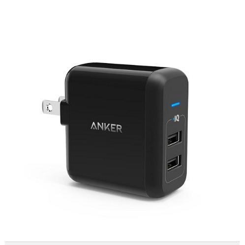 Sạc Anker 2 Cổng USB PowerPort 24W - A2141