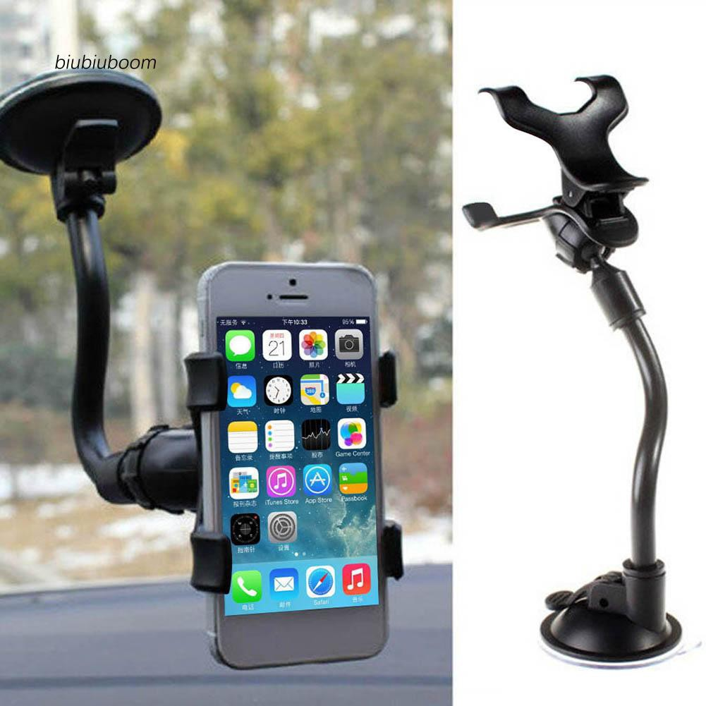 BM♠Flexible Tube Car Windshield Phone Holder Mount Bracket for iPhone Samsung