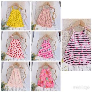 Váy hai dây vải xuất dư xịn cho bé gái 10-20kg giá sỉ