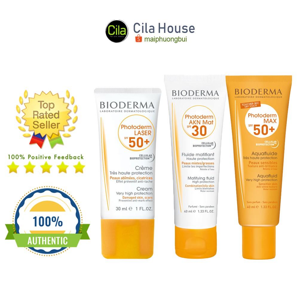 Yêu thíchKem chống nắng Bioderma Laser/ AKN Mat/ Photoderm Max AquaFluide - Cila House