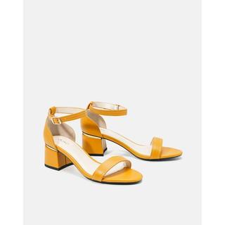 Giày sandal gót vuông quai ngang Juno – SD07046