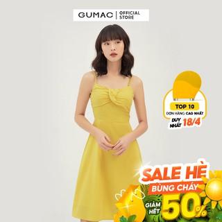 Đầm nữ hai dây GUMAC xếp ngực quyến rũ, dáng ôm body đủ màu đủ size DB311 thumbnail