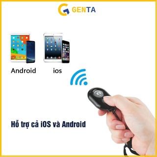 Nút Chụp Ảnh Bluetooth Cho Tất Cả Điện Thoại Có Kết Nối Bluetooth Nút Chụp Hình Nhỏ Gọn Khoảng Cách 10 Mét Không Delay