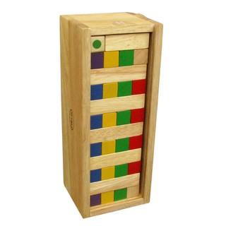 Rút gỗ (rút tháp) có màu và đổ xí ngầu – có hộp đựng