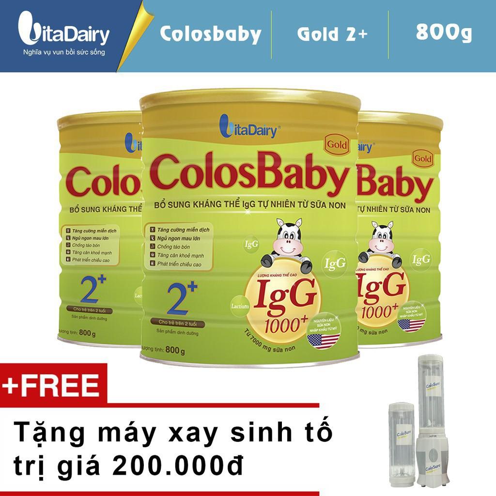 Sữa bột VitaDairy ColosBaby 600 LgG 0+ - hộp 800g (dành cho trẻ từ 0-12 tháng tuổi)