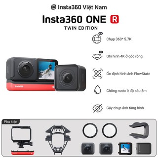 Máy quay kỹ thuật số cầm tay Insta360 ONE R Twin Edition Hàng chính hãng thumbnail