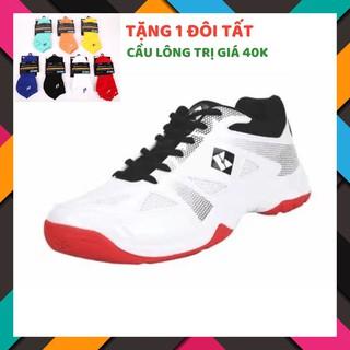 [Mẫu Mới]Giày cầu lông, giày bóng chuyền nam nữ Kumpoo E23 trắng chính hãng