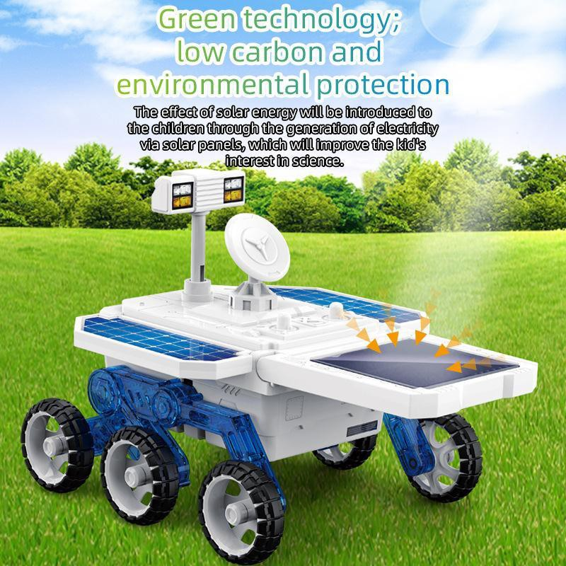 【happylife】Toy children DIY self-assembled four-wheel drive solar planet rover toy STEM educational science and education assembly model