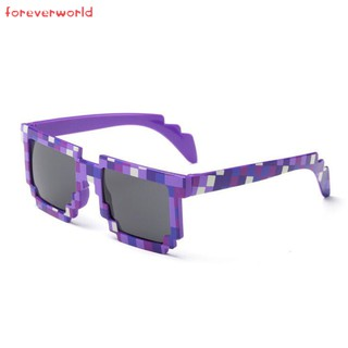 ♣✨♣ Fashion Sunglasses Kids Cosplay Game Toys Minecrafter Square Mosaic Grid Glasses for Men