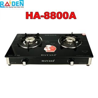[Mã ELMALL300 giảm 7% đơn 500K] Bếp ga đôi Hayasa HA-8800A đầu đốt inox 304, kiềng gang dày chắc chắn