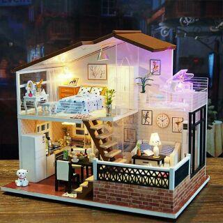 Mô hình nhà gỗ búp bê dollhouse DIY – M014A One meter sun