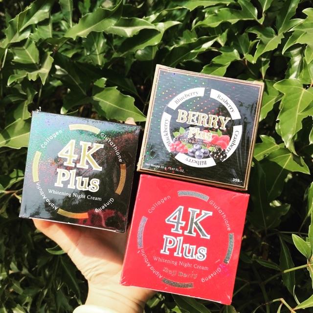 Kem Dưỡng Da Mặt 4k Plus & Berry Thá