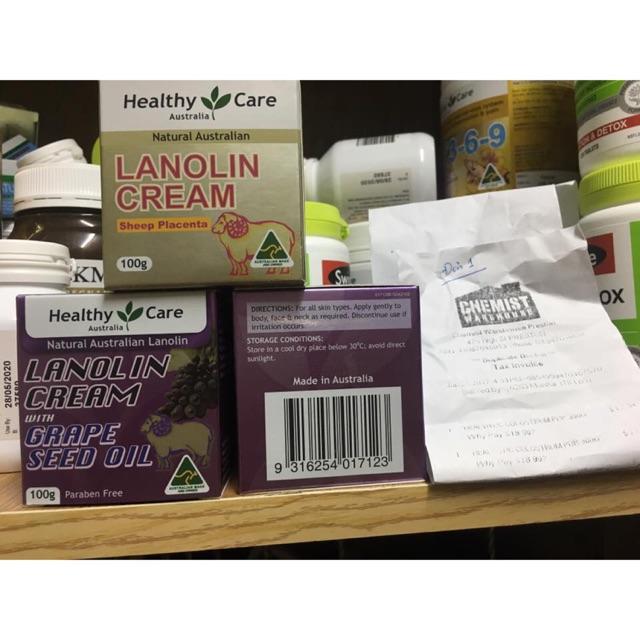 Kem cừu Lanolin Cream & Vitamin E 100g