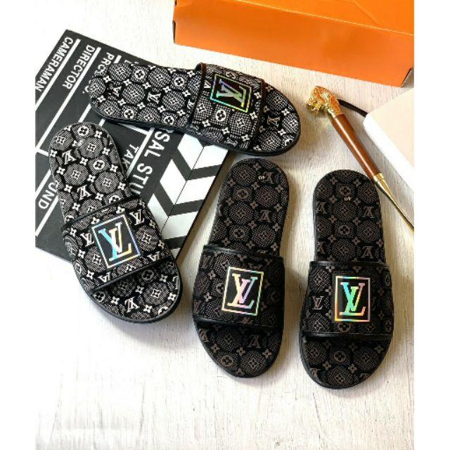 ( 4 mẫu ) Dép thời trang nam nữ LV  phản quang đế êm chất lượng