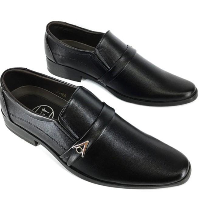 Giày tây đen nam thời trang Evest A287