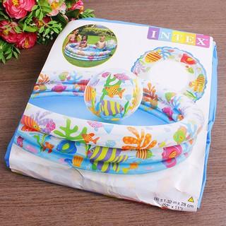 [DEAL TỐT] Bộ ba phao bơi + bóng bơi + bể bơi IntexKA001 dành cho bé yêu