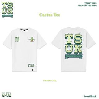 [Mã FASHION10KP giảm 10K đơn 50K] Áo thun TSUN - Họa Tiết Xương Rồng - Cactus Trắng thumbnail