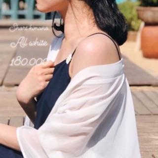 [Mã SKAMCLU7 giảm 10% tối đa 50K đơn 0Đ] Áo Kimono Betterista Trắng trơn thumbnail