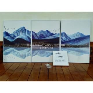 Tranh Tráng Gương khung COMPOZIT 40x60cm x 3 tranh - Núi kỳ ảo thumbnail