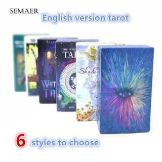 ★Sp Shadow/Witch/Wild/Rider Tarot English Version Mysterious Family Party Cards