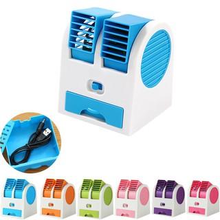 Mini Fan Aircond Portable Rechargeable Small Desk Fan Ultra Quiet