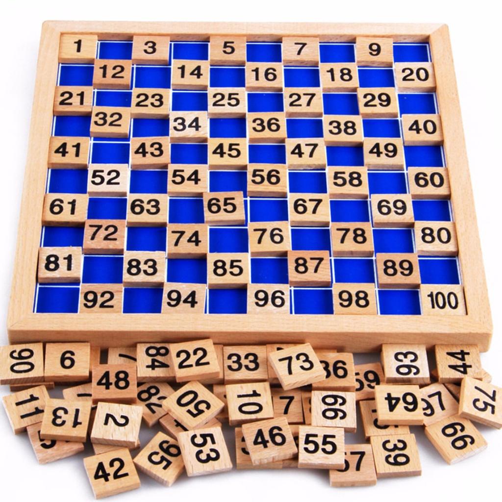 Bộ đồ chơi đếm số 1-100 bằng gỗ 4 trong 1 giáo dục sớm cho bé ☆Gyxcadia