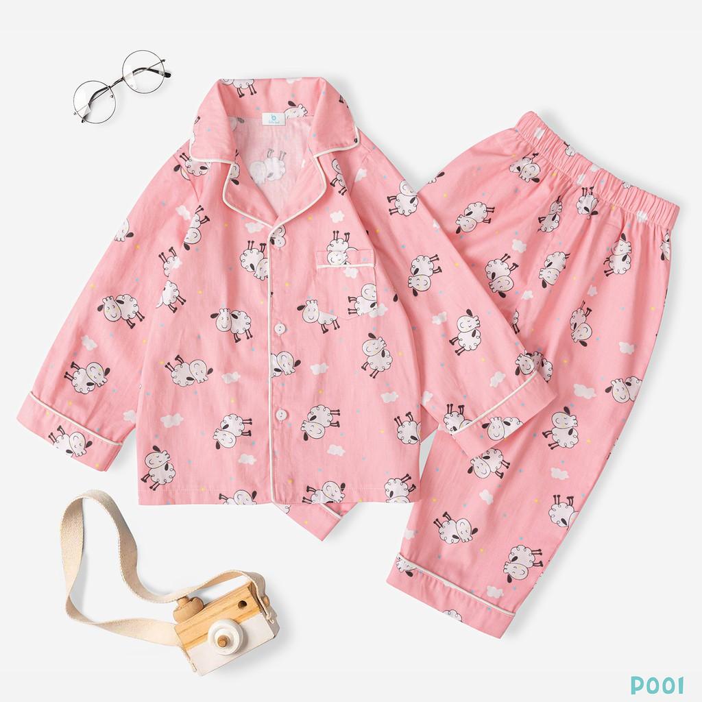 Bộ Đồ Pijama Cho Bé Vải Cotton Cao Cấp Thời Trang Bello Land