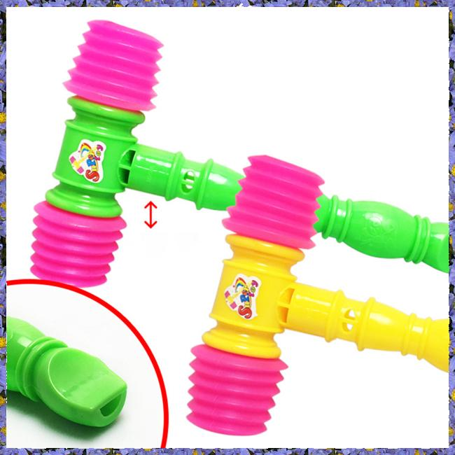 Newborn Baby Plastic BB Hammer Whistle Hitting Musical Early Education Toy for Kids
