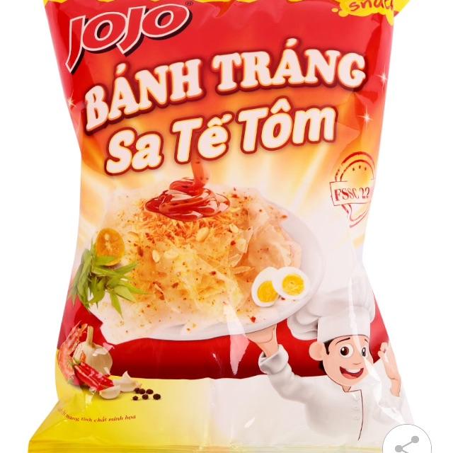 Snack Bánh Tráng Trộn Sa Tế Tôm Jojo Gói 44G - 2570733 , 874644001 , 322_874644001 , 12000 , Snack-Banh-Trang-Tron-Sa-Te-Tom-Jojo-Goi-44G-322_874644001 , shopee.vn , Snack Bánh Tráng Trộn Sa Tế Tôm Jojo Gói 44G