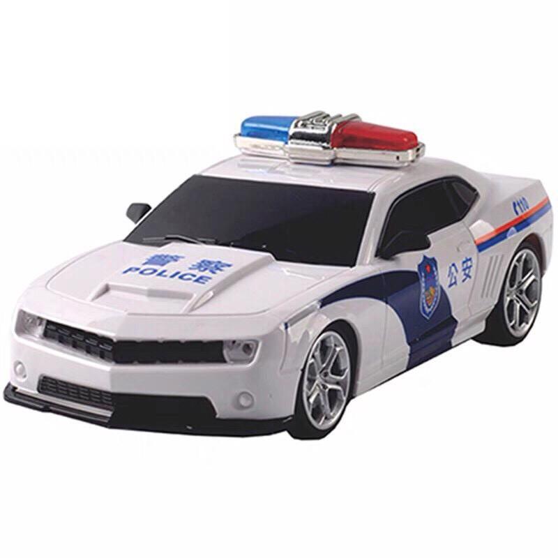 Xe oto cảnh sát điều khiển từ xa có đèn cho bé