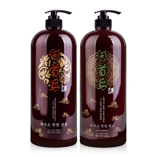 Bộ dầu gội và dầu xả thảo dược siêu mượt Organia Hasuo Herbal 1500ml x 2