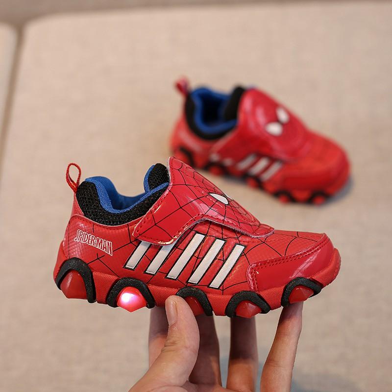 Giày thể thao siêu nhân người nhện cho bé - Size 26 đến 31 Spider man V43