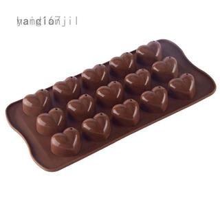 DROPS Khuôn Silicone Làm Bánh Hình Trái Tim 15 Ô Tiện Dụng Yang167