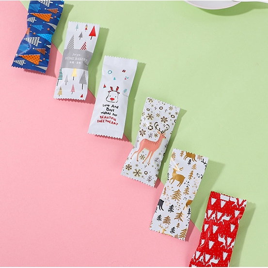 Set 100 Túi Nhựa Đựng Bánh Kẹo Tiện Lợi Xinh Xắn