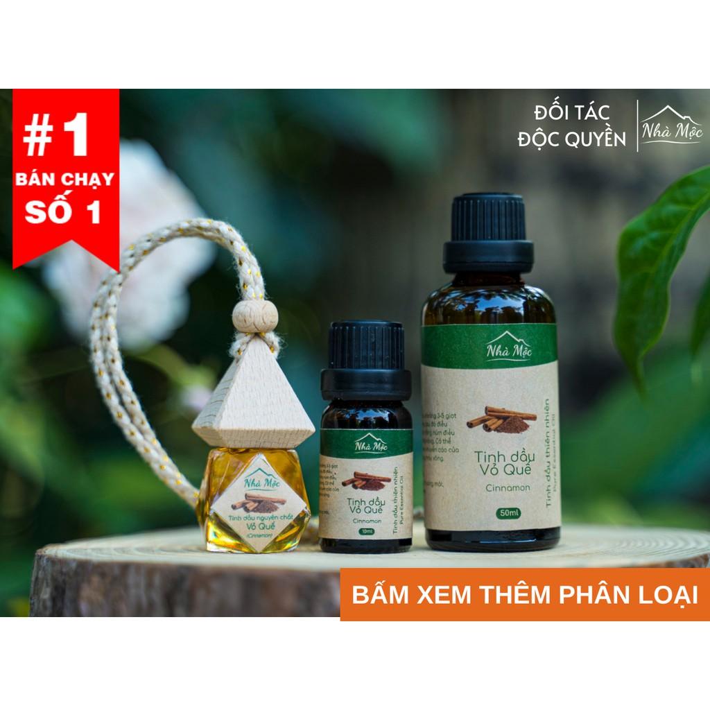 (Tặng que khuếch tán) Tinh dầu thiên nhiên Nhà Mộc nguyên chất giúp khử mùi, đuổi muỗi: tinh dầu sả chanh, bạc hà