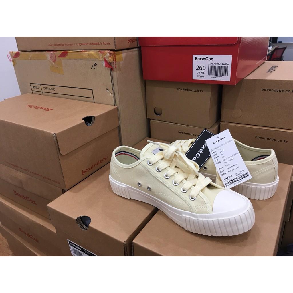 [FULLBOX- ẢNH THẬT] 💖 Giày VIA SNEAKERS Unisex BOX&COX Màu Vàng Ivory Hàn Quốc Siêu HOT 2019 💖