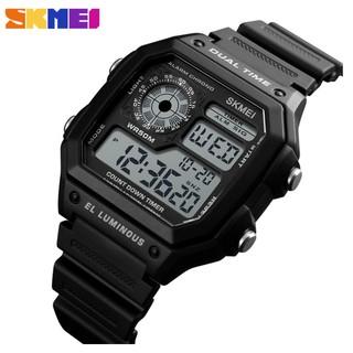 Đồng hồ nam dây nhựa tổng hợp cao cấp Skmei 1299