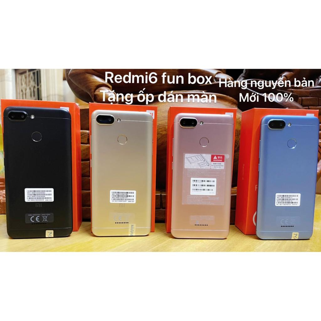 điện thoại Xiaomi Redmi 6 2sim ram 3G/32G mới Chính hãng, Tiếng Việt, VÂN TAY, Chiến PUBG/Liên Quân