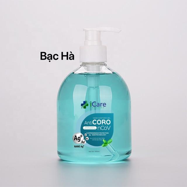 Gel rửa tay dược liệu Anti Coro 500ml Bạc Hà
