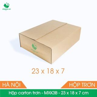 MXK3B - 23x18x7 cm - 50 Thùng hộp carton trơn đóng hàng - hình 1