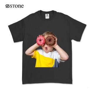 Hình ảnh Áo Thun Tay Lỡ Stone Dáng Unisex Form Rộng In Hình Baby Face Donut 100 Cotton TQ01-0